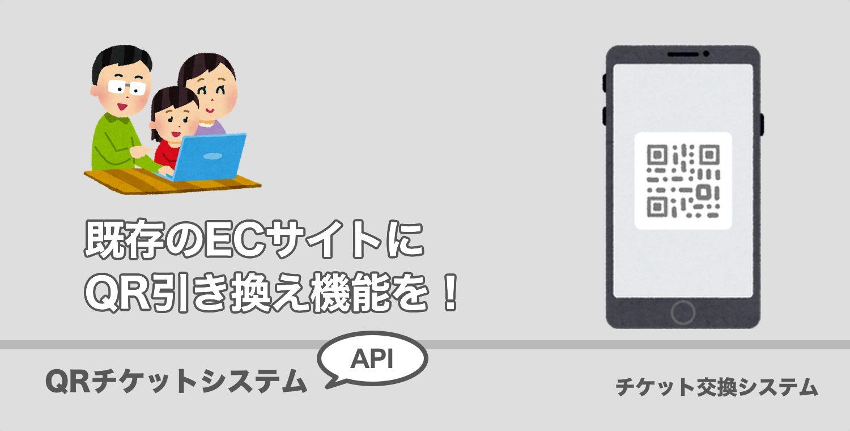 既存のECサイトにQRコードチケット交換システムを組み込む